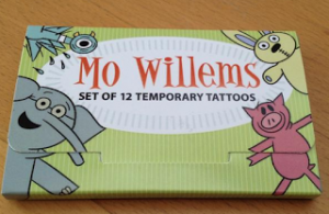 Mo Willems' The Pigeon, Elephant and Piggie, and Knuffle Bunny Temporary Tattoos